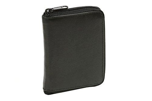 Portafoglio con tasca laterale a zip formato verticale LEAS, Vera Pelle, nero - ''LEAS Special Edition''