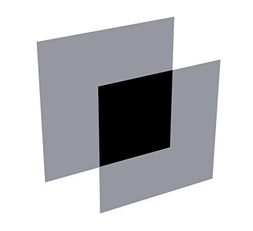 Polarisationsfolie, zirkular 0º/0º, 2 Stück-Set (L+R) 150 x 150 x 0,32 mm, Polfilter Typ ST-37