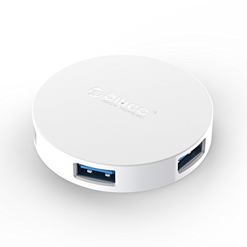 ORICO - USB 3.0 Hub mit 4 Ports, 5Gbps Highspeed Datenhub Unterstützung Offline Charge und OTG, für Notebook Ultrabook Tablet MacBook iMac, Weiß
