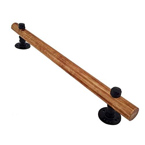 LPYMX Geländer bar Treppenarmlehnen-Kit - Vormontage aus Holz, Länge auswählen Außengeländer (Size : 80cm)