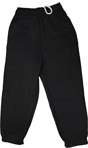 Ayra: Boys Girls Childrens Kids School PE Fleece Jogging Tracksuit Bottoms Trousers (9/10 Years, Black)