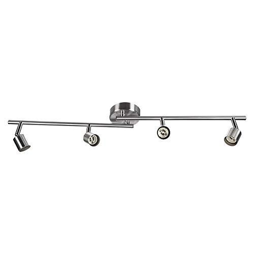 sweet-led SW-18S serieDeckenleuchte,schwenkbare Decken-Lampe, flammig,mit beweglichen Decken-Spots,Wohnzimmerlampe,Deckenstrahler, Metall,230V,GU10,IP20 (4-flammig) -