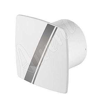 Blanc hotte murale ventilateur 100mm de style Awenta linea avec minuterie et capteur d'humidité