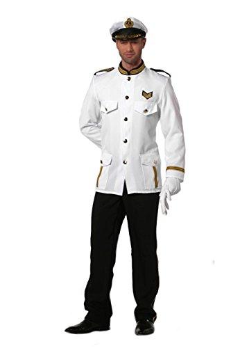 SceneSet Marine Offizier Kapitän komplett Jacke, Hose, Mütze, Handschuhe ()
