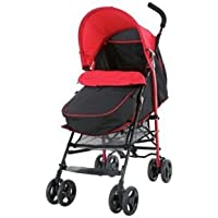 Fisher Price Pushchair with Footmuff (Black & Red)