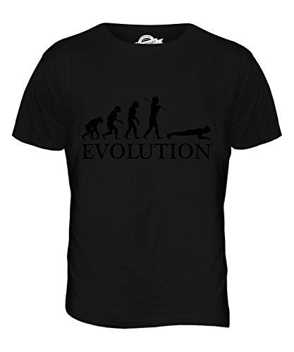 CandyMix Die Planke Evolution Des Menschen Herren T Shirt Schwarz