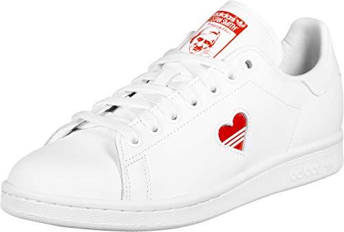 adidas Damen Stan Smith W Sneaker, Weiß Active Red/Footwear White 0, 42 EU