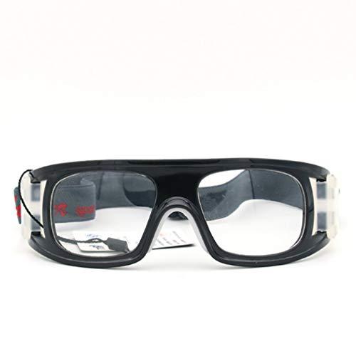 GreatWall Basketballbrille Fußball Sportbrille Badminton Explosionsgeschützter Rahmen Schwarz