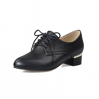 pwne Donna Oxfords Primavera Estate Autunno Inverno Comfort Novità Sintetici Pu Wedding Office &Amp; Carriera Partito Informale &Amp; Sera Dresschunky Tacco US5 / EU35 / UK3 / CN34