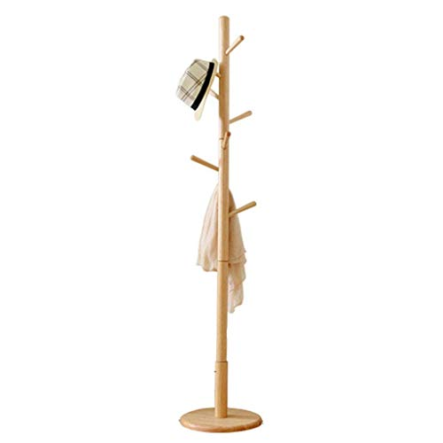 Buche Mantel Regal Boden Schlafzimmer Hänger einfache Single Pole Hall Wohnzimmer Holz Hänger Kleiderbügel in fünf Farben erhältlich,Beige