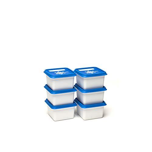 Amuse Alaska Gefrierdosen / Tiefkühldosen-Set, eckig, in Profi-Qualität, 6 x 200 ml, BPA-frei, hergestellt in der EU