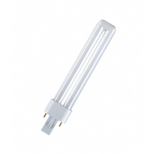 Kompakt-leuchtstofflampe Leuchte (Osram Kompakt-Leuchtstofflampe Dulux S 827 G23 warm 11W)