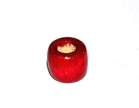 Markylis - 200 Wooden Rondelle Jewellery Craft Beads - Cherry