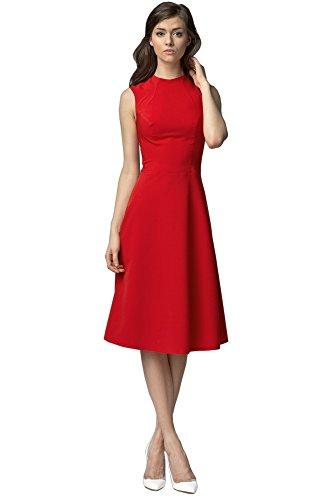 Nife - Robe - Sans Manche - Femme Rouge