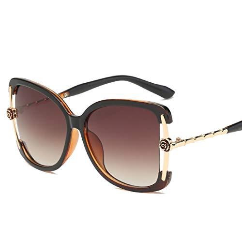 Shiduoli Mode Cat Eye Sonnenbrillen für Männer Frauen übergroßen Glas zum Fahren Klettern (Color : D)