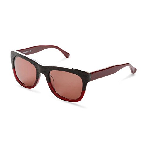 Calvin Klein Platinum - CK4312S, Wayfarer, Acetat, Herrenbrillen, STRIPED GREY DARK BURGUNDY/BROWN (616 ), 53/20/140