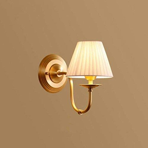 HBA Wandleuchte Wohnzimmer Schlafzimmer leuchtet voll Kupfer Nachttischlampe Einfache Leselampe Gang Ausstiegsleuchten reine Handarbeit Kupfer zu erstellen Luxus und schönen E14 (Farbe: A)
