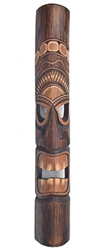 Mscara-de-madera-Tiki-en-el-HAWI-Look-in-100cm-Largo-Tiki-Mscara-Mscara-de-pared-MAUI
