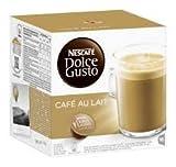 Nescafé Dolce Gusto Café au lait, Kaffee, Milchkaffee, Kaffeekapsel, 6er Pack, 6 x 16 Kapseln