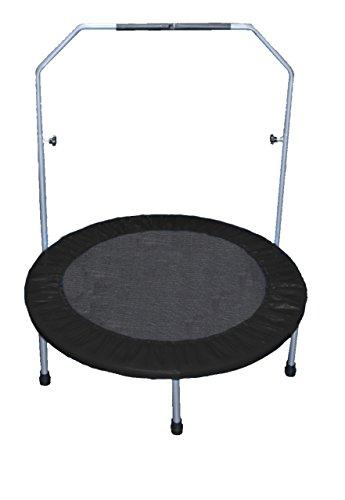 Trampolin 100 cm schwarz Fitness Gesundheitstrampolin Minitrampolin Fun Jumping Rund 1m