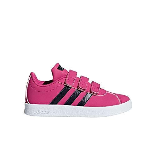 adidas VL Court 2.0 Cmf Scarpe da Tennis Bambina, Rosa Reamag/Legink/Ftwwht, 35 EU