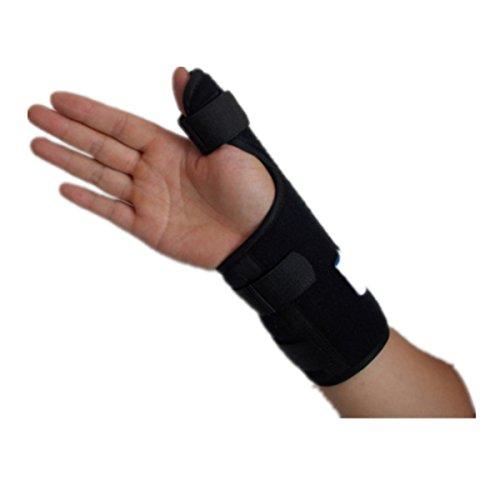 ROSENICE Stecca di pollice medico elastico gancio di sostegno con cinturino da polso regolabile per (Stecca Di Sostegno Del Gancio)