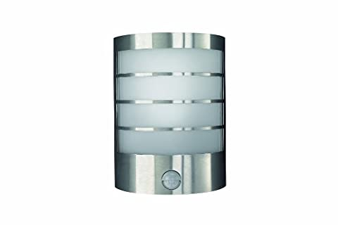 Massive Calgary Outdoor Wall Light Stainless Steel (Requires 1 x 12 Watts E14 Bulb)