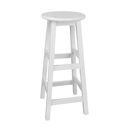 Tabourets de bar , Tabouret haut , Chaise de bar Chaise haute Chaise de réception Bois massif Simple moderne et rétro - Options de hauteur - Blanc/Bois Couleur/Noir