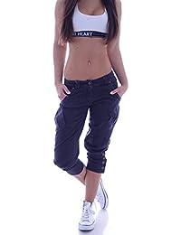 Damen Capri Jeans Shorts Haremshose Aladin Hose S 36 M 38 L 40 XL 42 XXL 44