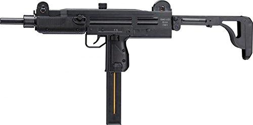 SET: IWI UZI SMG Softair 6mm BB schwarz unter 0,5 Joule + G8DS® Zielscheibe