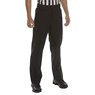 Adams USA Smitty Men's Flat Front Referee Pants (Black, 33-Inch) by Smittybilt
