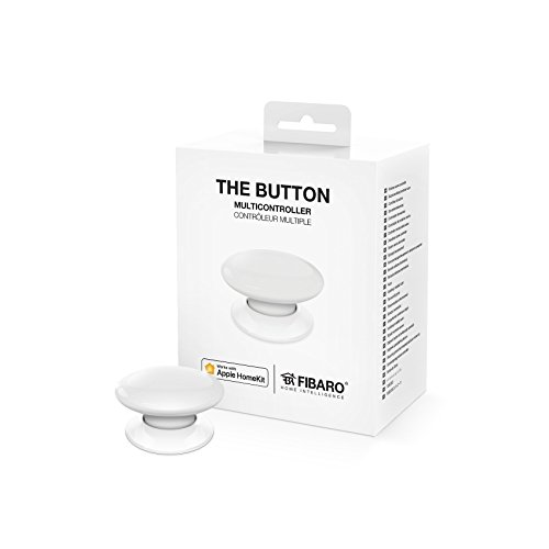 FIBARO FGBHPB-101-1 iOS Il Tasto - multicontrolli wireless, 3.6 V, Bianco, Taglia unica