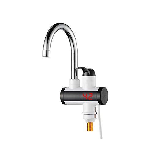 YXMxxm Küchen-elektrischer Heizungs-Hahn mit LED-Digitalanzeige großer unterem Fluss-sofortiger elektrischer Warmwasserbereiter-Hahn (IPX-4)