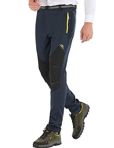 DAFENP Hombre Impermeable Pantalones Trekking Pantalones