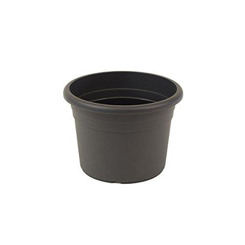 greemotion Pot de fleurs rond en plastique Ø 18cm 1,5L - Pot pour plantes extérieures et intérieures - Pot de jardin couleur anthracite