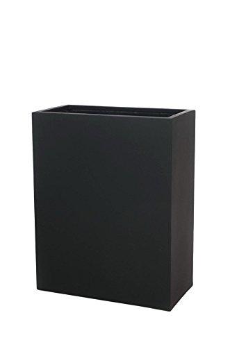Vivanno Pflanzkübel Raumteiler Trennelement Sichtschutz Fiberglas anthrazit Elemento - 75x30x59 cm