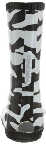 Viking CLASSIC INDIE ZEBRA Unisex Kinder Langschaft Gummistiefel Weiß (Black/White 201)