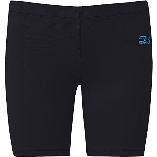 Sportkind Mädchen & Damen Fitness / Volleyball / Training Shorts, schwarz, Gr. 146