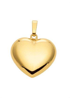 Gold 14 k ( 585 ) Motiv - Anhänger - Herz - B. 18 mm - H. 14,5 mm