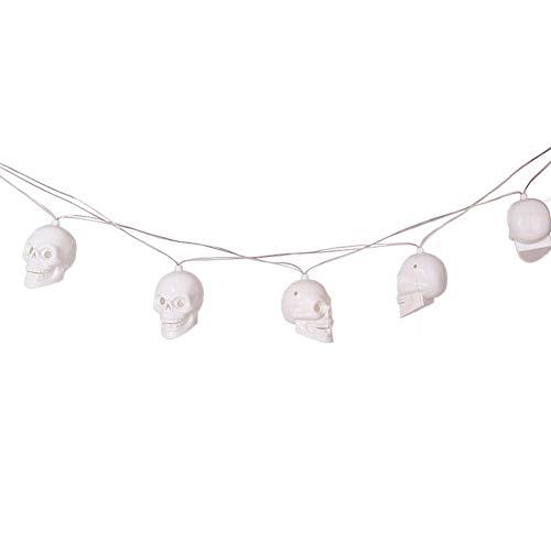 Halloween Light String, 2,3 M 10 LED Wasserdichtes Balllicht, Warme Weiße Beleuchtung, Batteriebetriebene Feen Lichter Halloween Weihnachts-Hochzeit Geburtstag Hausschule Party Dekoration