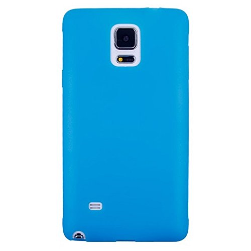wkae Schutzhülle Fall und Abdeckung horizontal Flip Touch Bildschirm Frosted TPU Schutz Hülle für Samsung Galaxy Note 4/N910 blau