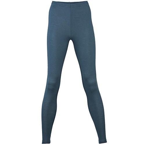 Engel Damen Leggings/Unterhose lang Bio-Wolle/Seide, Atlantik, 34/36