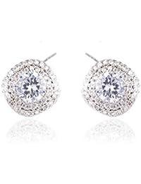 746d633134ac GFLD Pendientes S925 Sterling Silver Girls Baratijas Peach Heart Full  Diamond Temperament Earrings Stud… EUR 30