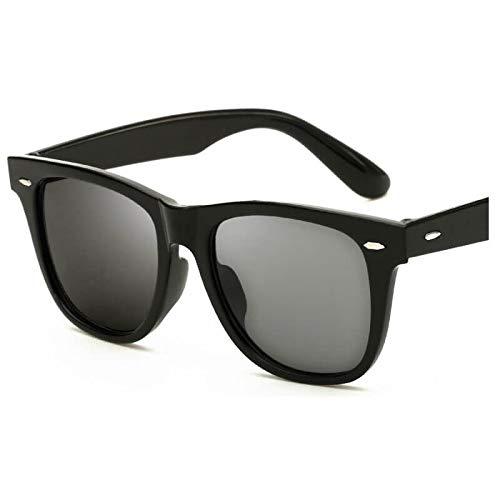 YXCCHZS Sonnenbrille Mode Unisex Schwarzes Quadrat Sonnenbrille Retro Green Shades Sonnenbrille Weiblich Männlich Trendy Klassische Frauen MannNo-1-Schwarz Grau