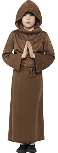 Friar Kostüm Tuck - Jungen Schreckliche Geschichten Mönch Religiös Friar Tuck Historisch Kostüm Kleid Outfit - Braun, 10-12 Years