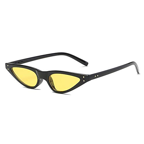 jgashf Katzenaugen Sonnenbrille Damen Film Objektiv Retro Party Katze Auge Stil Brille Nette Farbe Gradation Linse Rahmen Dreieck Vintage Shades Sunglasses ()