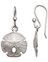 Sterling Silver Sand Dollar Earrings 18.53x14.67mm