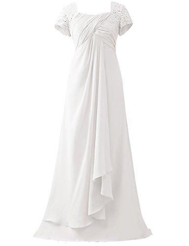 Brautmutterkleider Lang A-Linie Empire Chiffon Pailletten Hochzeit Kleider Abendkleider Partykleider...