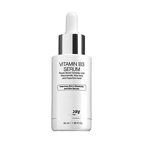 Niacinamid 5% Vitamin B3 Gesichtsserum 40 ml - Anti-Aging Feuchtigkeitscreme mit Vitamin B3 -...