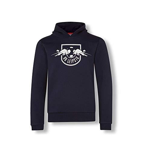 RB Leipzig Essential Mono Hoodie, Blau Youth Größe 152 Kapuzenpullover, RasenBallsport Leipzig Sponsored by Red Bull, Original Bekleidung & Merchandise